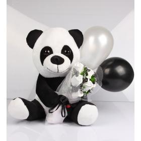 eJOYA Şirin Panda Doğum Günü Kokulu Taş Buketi Aranjmanı 101801