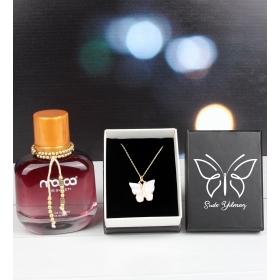 eJOYA Kişiye Özel Kutusunda Kelebek Kolye Ve Parfüm 101803