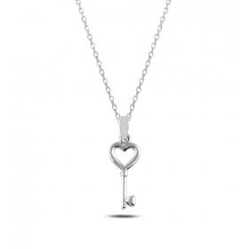 eJOYA 14 Ayar Altın Kalbimin Anahtarı Kolye Ucu 80677