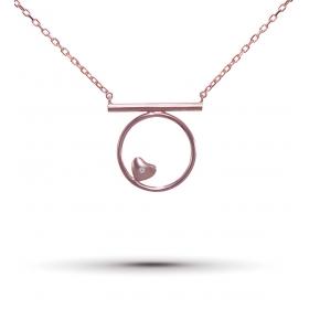 eJOYA Pırlanta Kalp Gümüş Kolye 78369