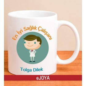 Kişiye Özel En İyi Sağlık Çalışanı Kupa hf8544