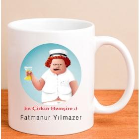 Kişiye Özel Acımasız Hemşire Kupa Bardağı hf5073 80165