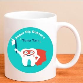 Kişiye Özel Süper Diş Doktoru Kupa Bardak hf10474 80177
