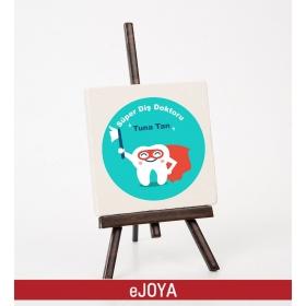 Kişiye Özel Süper Dişçi Temalı Şovaleli Taş hf10479
