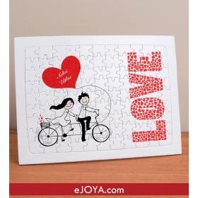 Kişiye Özel Sevgililer 99 Parça A4 Puzzle hf5130 80366