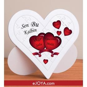 Sevgiliye Özel 27 Parça Aşk Puzzle hf418 80372