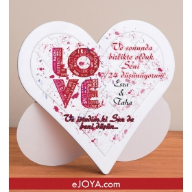 Kişiye Özel Love Kalp Puzzle hf3108 80375