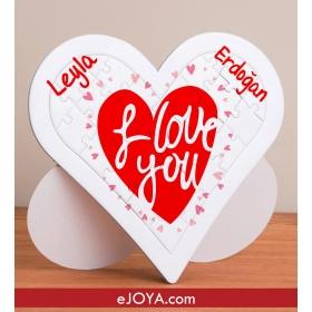 Kişiye Özel Love You Kalp Puzzle hf7909 80377