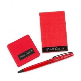 eJOYA Kişiye Özel Kırmızı Kalem Kartvizitlik Ayna Set hf10152  80451