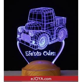 Kişiye Özel 3 Boyutlu Çocuk Odası LED Lamba hf5294 80470
