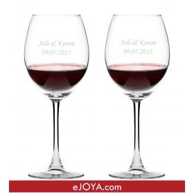 Kişiye Özel İkili Şarap Kadehi hf287 80719