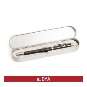Kişiye Özel Metal Kutuda Siyah Lazerli Işıklı Kalem hf10136