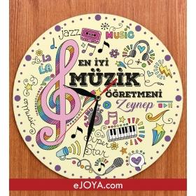 eJOYA Kişiye Özel En İyi Müzik Öğretmeni Saat hf10063 80890