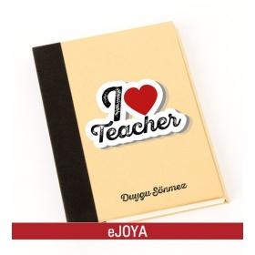 Kişiye Özel I Love Teacher Geri Dönüşüm Defter hf10036