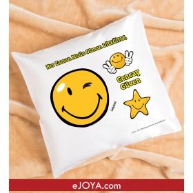 Kişiye Özel Smiley Kare Yastık hf4469 80896