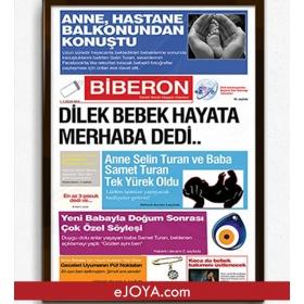 Kişiye Özel Çerçeveli Yeni Doğum Gazetesi hf5193 80946