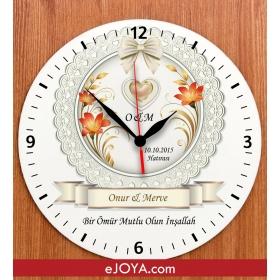 eJOYA Yıldönümüne Özel İsim Ve Mesaj Yazılı Duvar Saati hf4234 80969