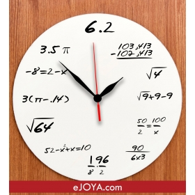 eJOYA Matematik Duvar Saati hf420 80970