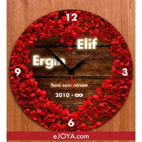 eJOYA Kişiye Özel Sevgililer İçin Duvar Saati & hf4893 81241