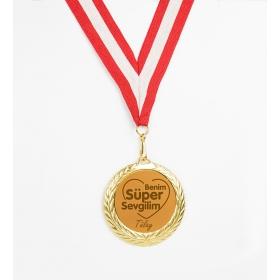 eJOYA Kişiye Özel Benim Süper Sevgilim Altın Madalyon hf10732 81264