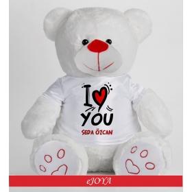 eJOYA Kişiye Özel I Love You Peluş Ayıcık 50cm 81877
