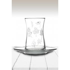 eJOYA Yaprak Desenli Çay Bardağı 82170