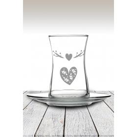 eJOYA Kalp Desenli Çay Bardağı 82172