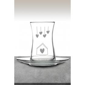 eJOYA Kalp Temalı Çay Bardağı 82173