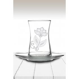 eJOYA Çiçek Temalı Çay Bardağı 82175