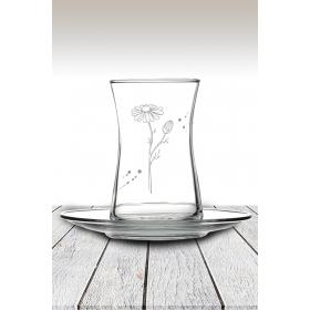 eJOYA Papatya Desenli Çay Bardağı 82178