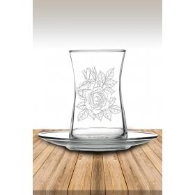 eJOYA Gül Desenli Çay Bardağı 82179