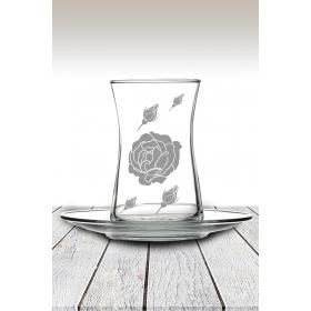 eJOYA Gül Desenli Çay Bardağı 82180