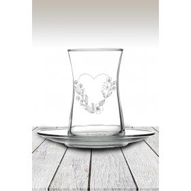 eJOYA Kalp Temalı Çay Bardağı 82184