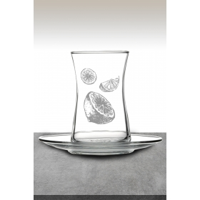 eJOYA Limon Desenli Çay Bardağı 82185