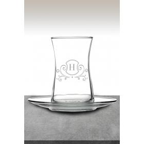 eJOYA H Harf Temalı Çay Bardağı 82191