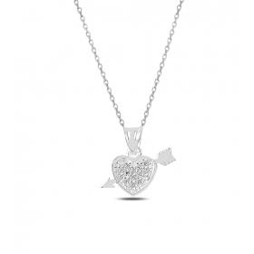 eJOYA Eros Kalp Gümüş Kolye 82528