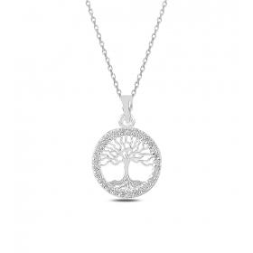eJOYA Çerçeveli Hayat Ağacı Gümüş Kolye 82531