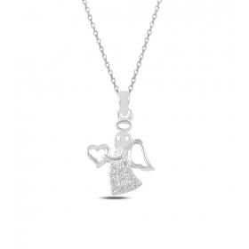 eJOYA Kalbimi Sana Verdim Melek Gümüş Kolye 82535