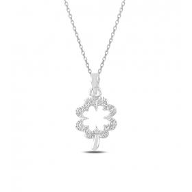 eJOYA Çiçek Gümüş Kolye 82573