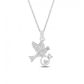 eJOYA Kısmetin Var Kuşu Gümüş Kolye 82575