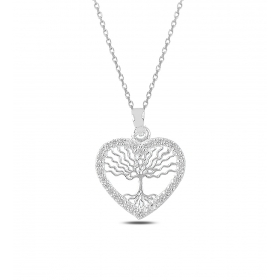 eJOYA Kalpli Hayat Ağacı Gümüş Kolye 82577