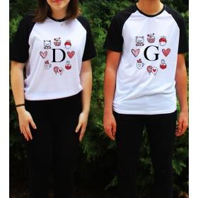 eJOYA Kişiye Özel Çift Kadın Tshirt Erkek Tshirt 82599