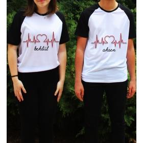 eJOYA Kişiye Özel Çift Kadın Tshirt Erkek Tshirt 82607