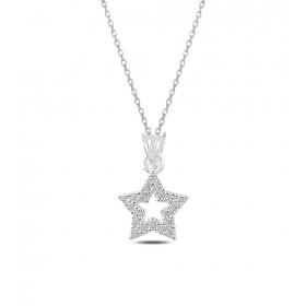 eJOYA Yıldız Gümüş Kolye 82620