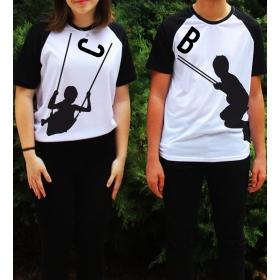 eJOYA Kişiye Özel Çift Kadın Tshirt Erkek Tshirt 82642
