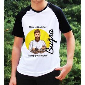 eJOYA Kişiye Özel Kolay Yetişmiyor Erkek Tshirt 82650