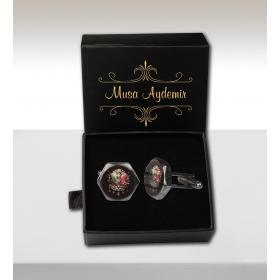 eJOYA Kişiye Özel Kutuda Osmanlı Arması Kol Düğmesi 82661