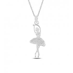 eJOYA Dansçı Gümüş Kolye 82668