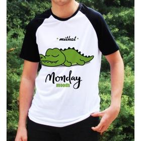 eJOYA Kişiye Özel Monday Moods Erkek Tshirt 82677