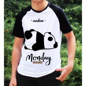 eJOYA Kişiye Özel Monday Moods Erkek Tshirt 82684